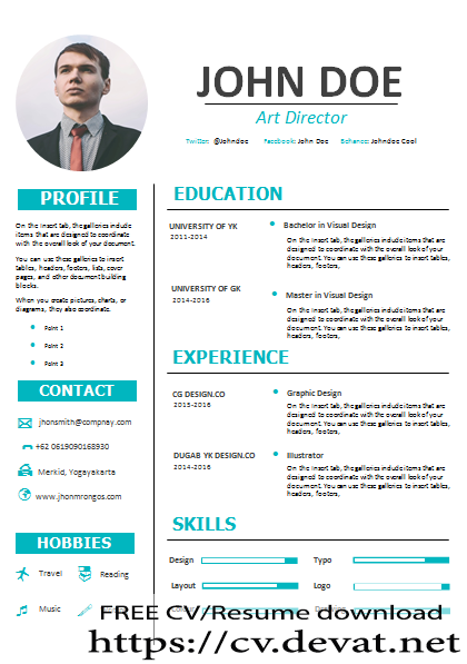 CV English word download - CV Resume download Share